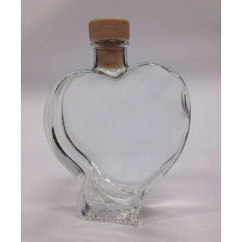 Szív alakú üveg homok ceremóniához
