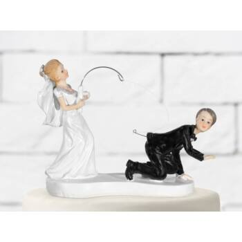 Horgászos esküvői tortadísz