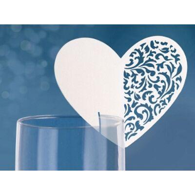Szív alakú ültetőkártya