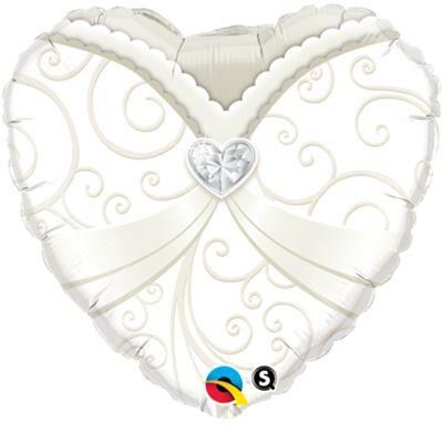 Szív menyasszony esküvői héliumos lufi