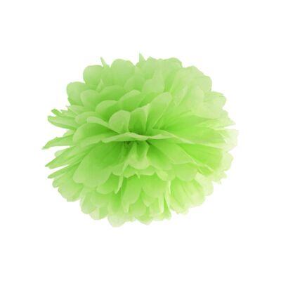 Zöld selyempapír pompom 35 cm