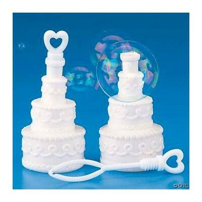 Buborékfújó esküvői torta