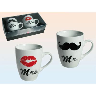 Esküvői ajándék Mr. és Mrs. bögre