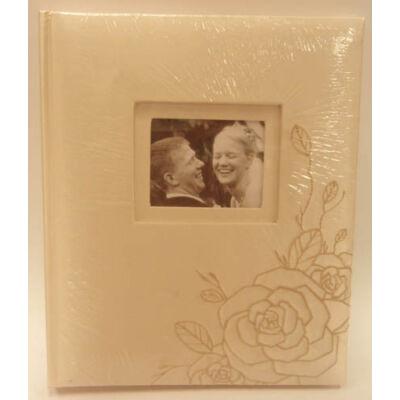 Hímzett rózsa mintás fotóalbum