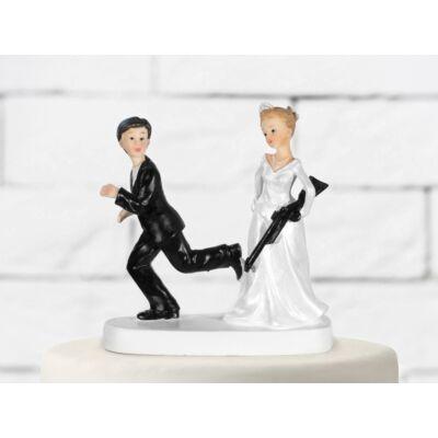 Puskás esküvői tortadísz
