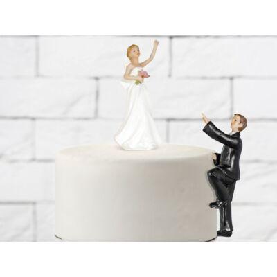 Jövök drágám esküvői tortadísz