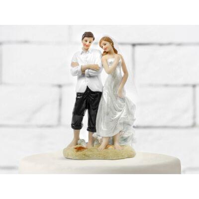 Tengerparti esküvői tortadísz
