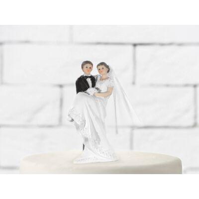Ölbe kapós esküvői tortadísz