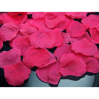Selyem rózsaszirom pink színben 100 db-os