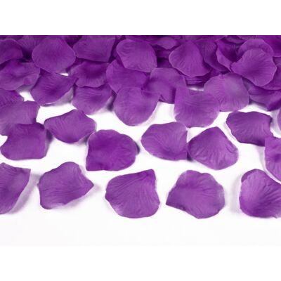 Selyem rózsaszirom viola lila színben 100 db-os