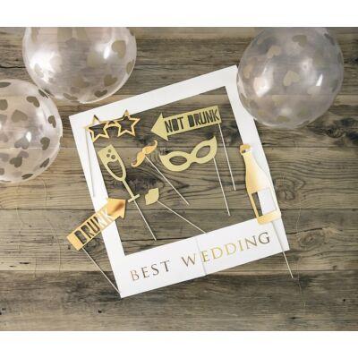 Arany esküvői fotókellék szett