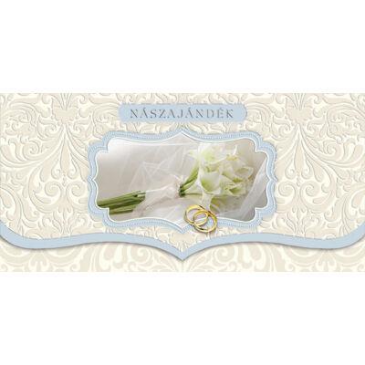 Liliom-gyűrűs nászajándék képeslap