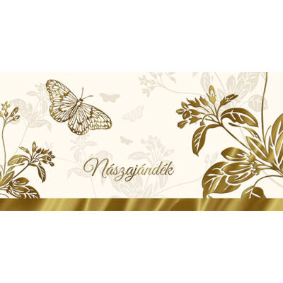Arany pillangós nászajándék képeslap