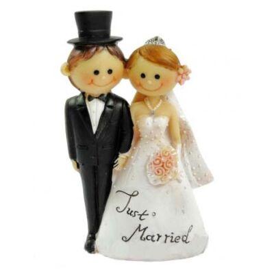 Esküvői tortadísz just married csokros