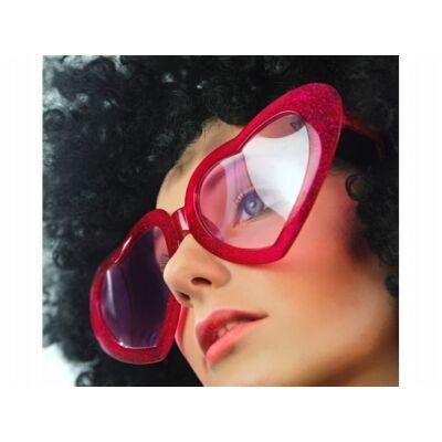 Piros szívszemüveg nagy