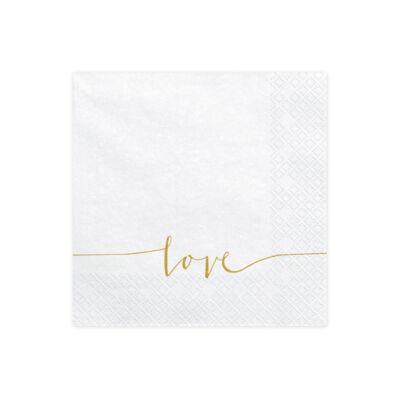 Love feliratú szalvéta