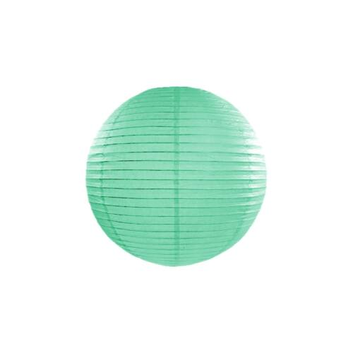 Mentazöld lampion 25 cm