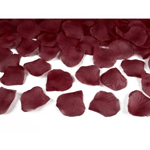 Selyem rózsaszirom bordó színben 100 db-os