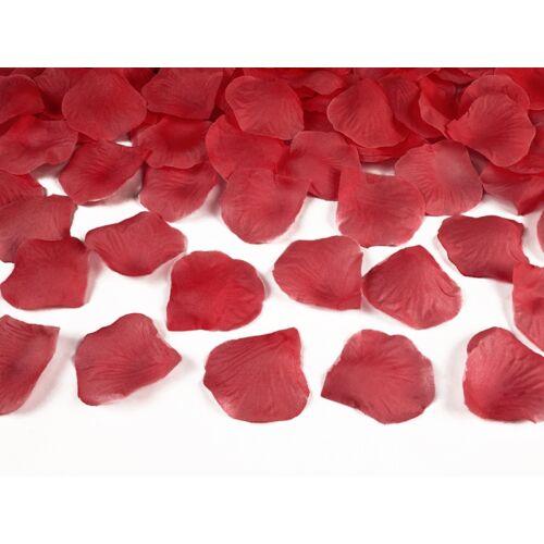 Selyem rózsaszirom piros színben 100 db-os
