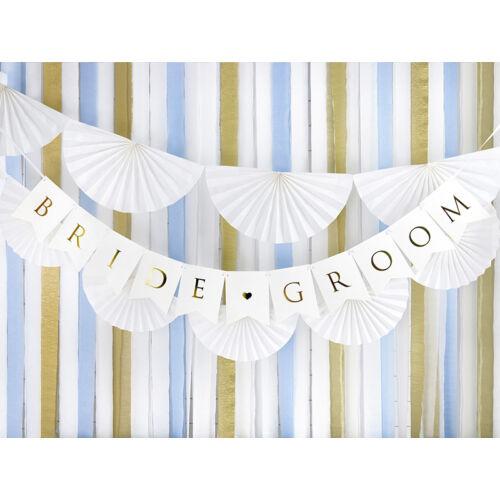 Fehér bride és groom felirat