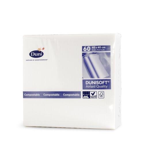 Fehér dunisoft damaszt textil hatású szalvéta 60 db