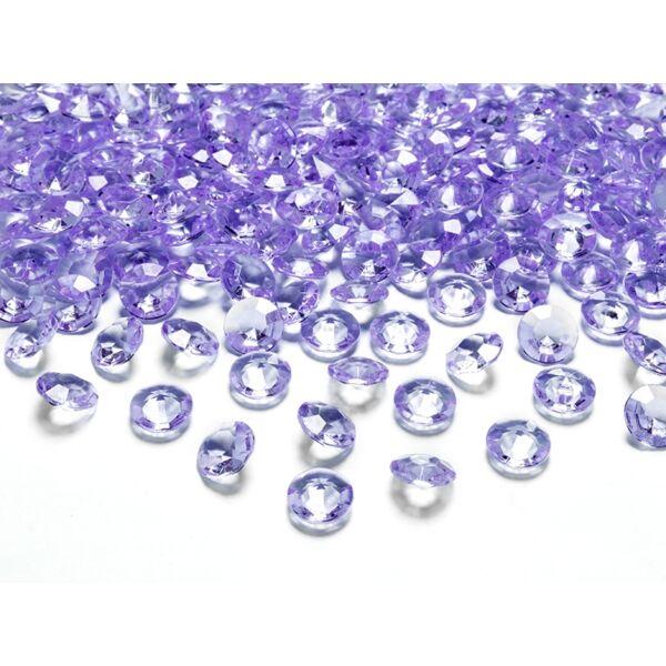 Levendula lila gyémánt dekorkavics