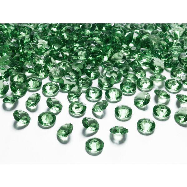 Sötétzöld gyémánt dekorkavics