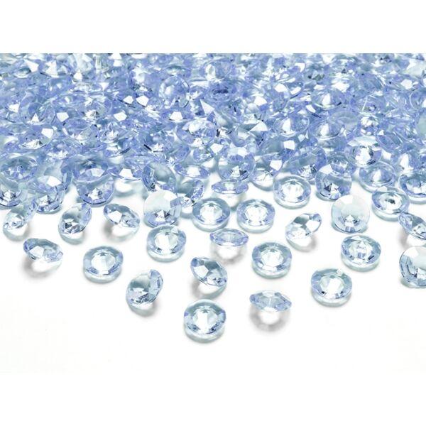 Világoskék gyémánt dekorkavics
