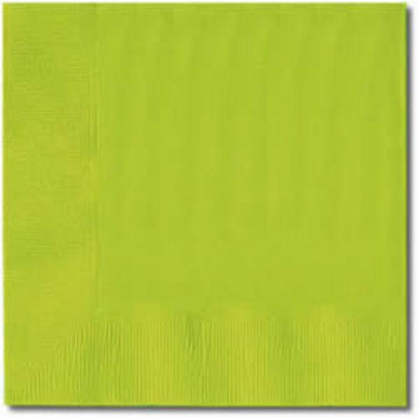 Lime zöld szalvéta 33x33 cm 20 db