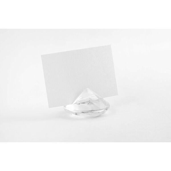 Átlátszó gyémánt ültetőkártya tartó 10 db