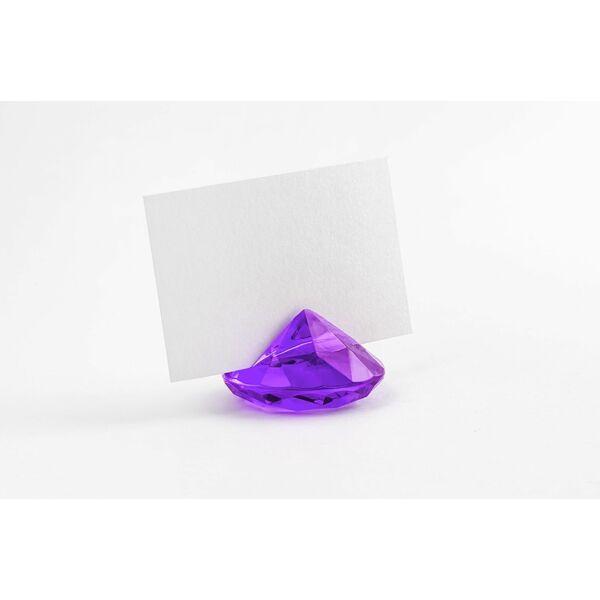Sötétlila gyémánt ültetőkártya tartó 10 db