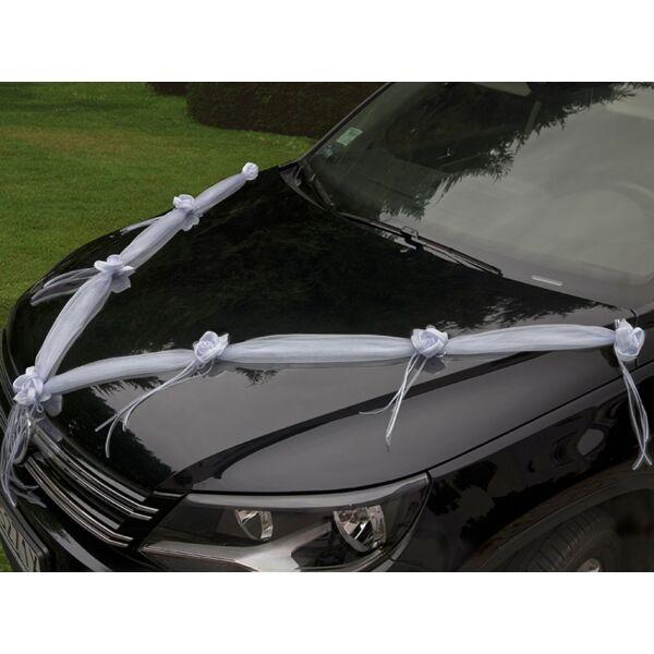 Fehér-ekrü autó dekorációs szett