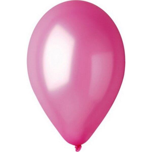 Rózsaszín lufi, metál 15 cm