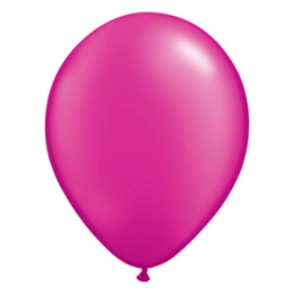 Pink gyöngyházas qualatex lufi 15 cm