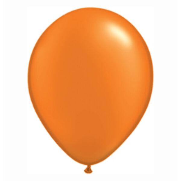 Narancs gyöngyházas qualatex lufi 15 cm