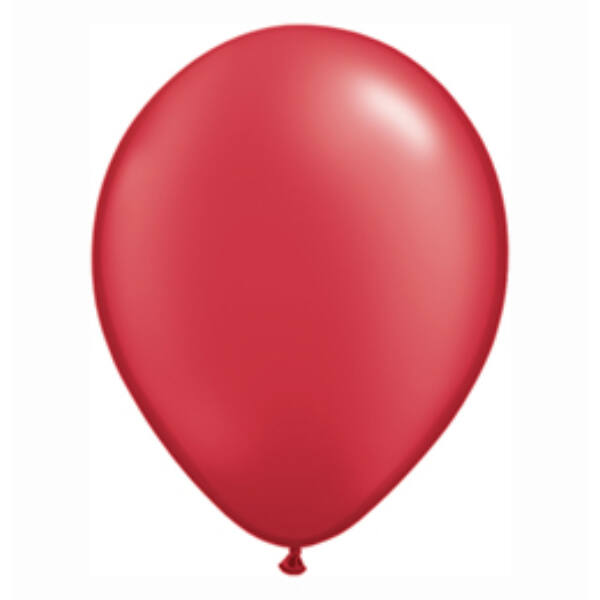 Piros gyöngyházas qualatex lufi 15 cm