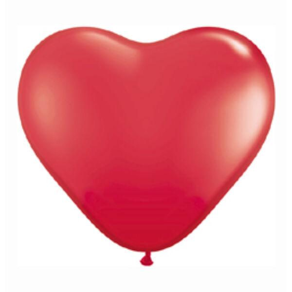 Piros szív lufi 38 cm