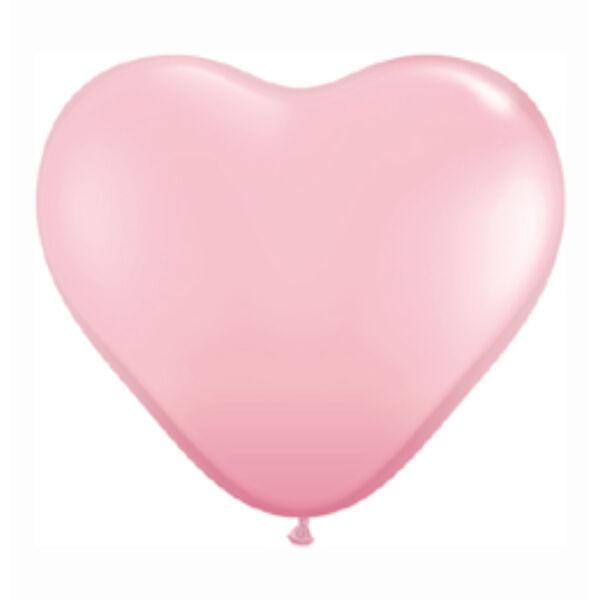 Rózsaszín szív lufi 38 cm