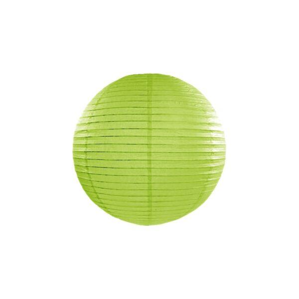 Almazöld lampion 25 cm