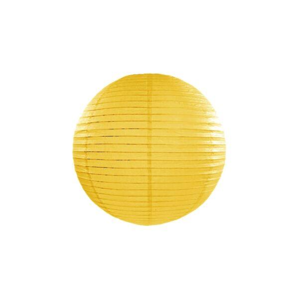 Sárga lampion 25 cm