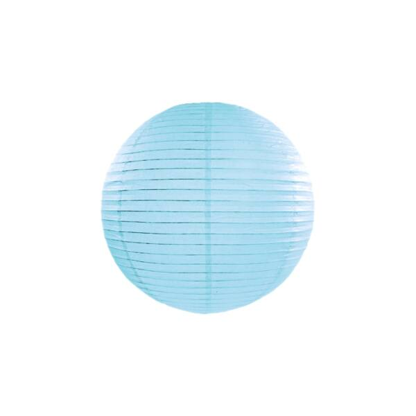 Világoskék lampion 25 cm