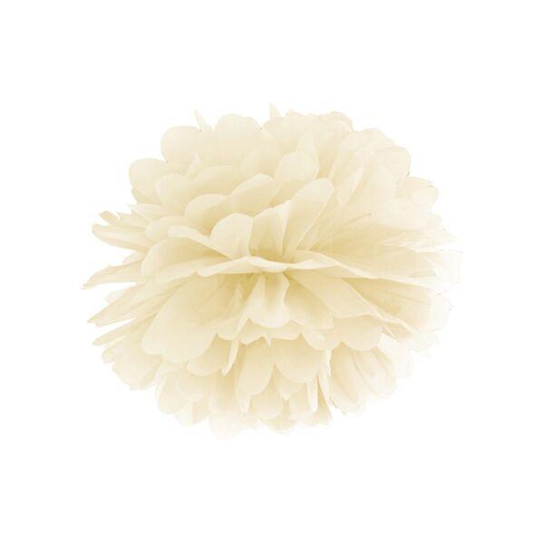 Ekrü selyempapír pompom 35 cm