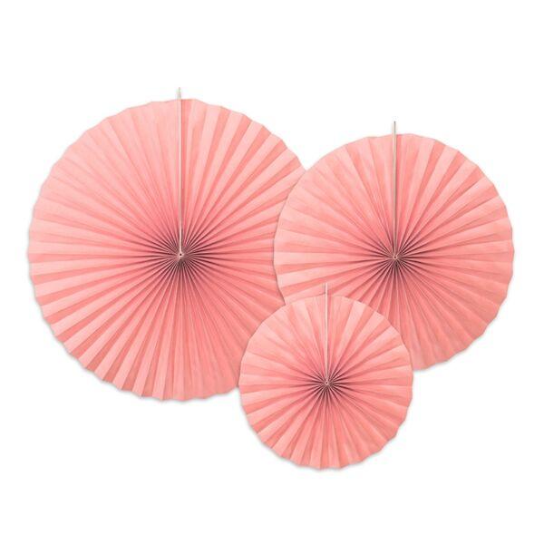 Rózsaszín legyező szett