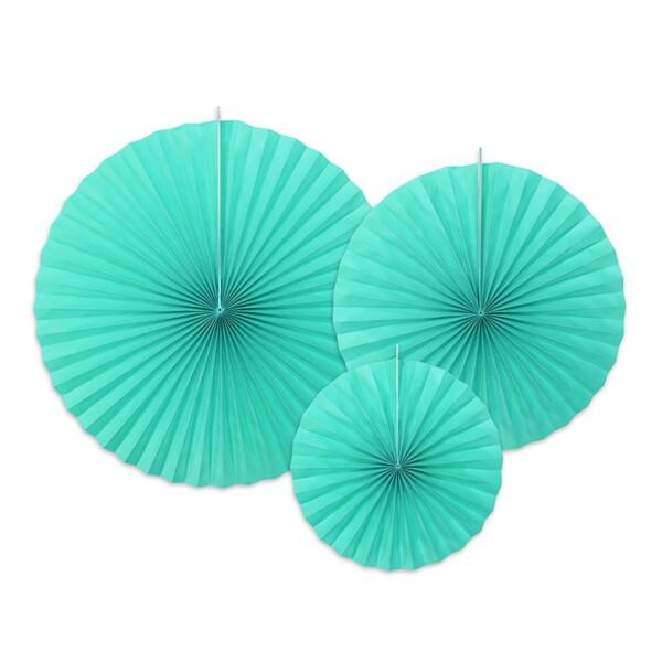 Tiffany kék legyező szett
