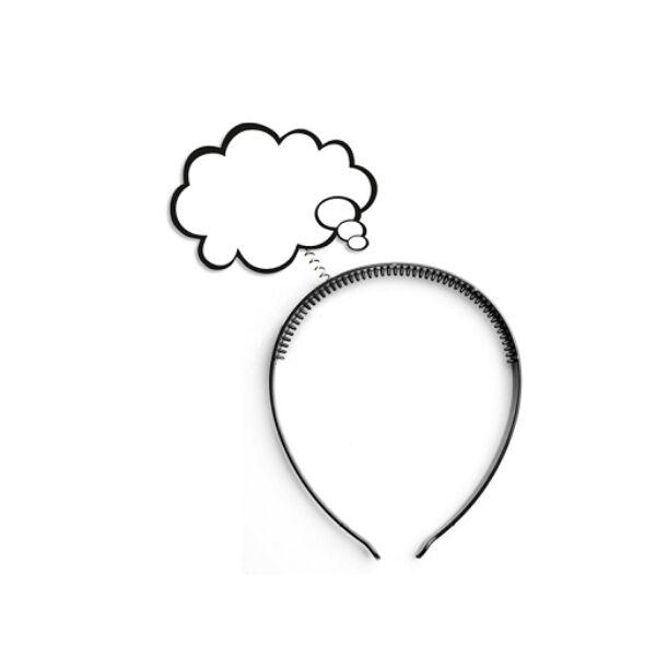 Szövegbuborékos hajpánt