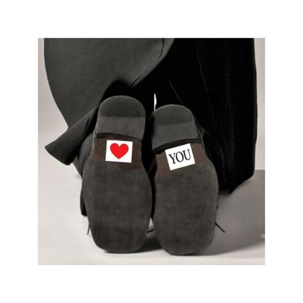 Love you cipőmatrica
