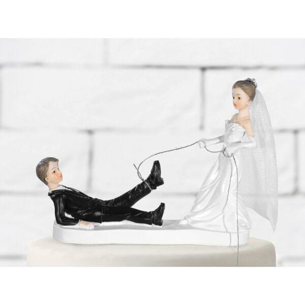 Elkaptalak esküvői tortadísz