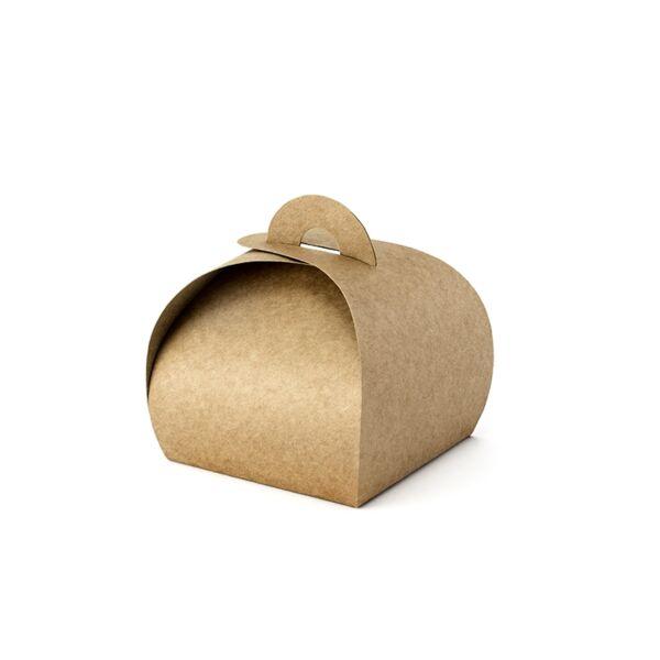 Barna köszönetajándék doboz