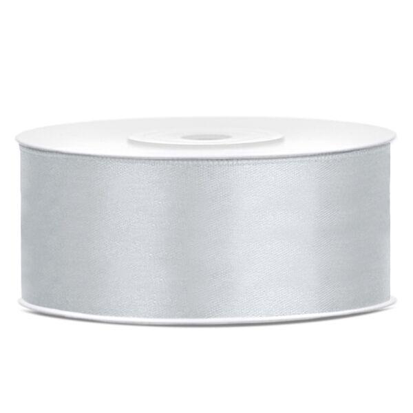 Ezüst szatén szalag 25mm x 25m
