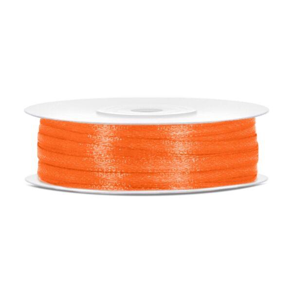 Narancs szatén szalag 3 mm